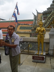 If you go to the Grand Palace- Look for this guy