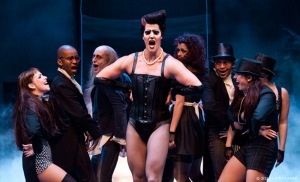 Dr Frank N. Furter and the cast (taken from The Fugard website)